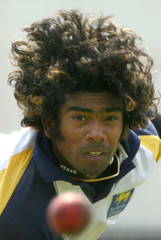 Sri Lanka's Malinga bowls during practice session at Lord's cricket ground London