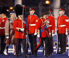 Britain's Prince Charles inspects the Royal Regiment of Canada in Toronto