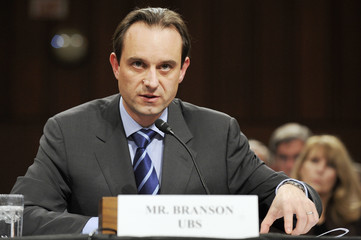 Branson of UBS delivers testimony before the Senate Homeland Security and Governmental Affairs Subcommittee on Capitol Hill in Washington