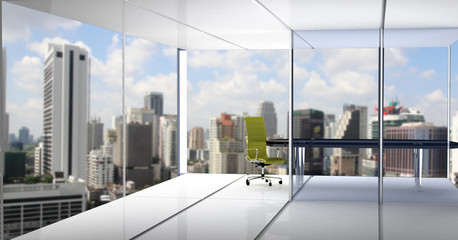Fotomurales - Modern office with open space and large windows