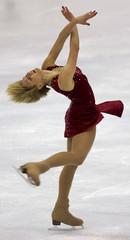 VANESSA GUSMEROLI PERFORMS AT WORLD FIGURE SKATING CHAMPIONSHIPS.