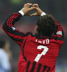 AC Milan's Pato celebrates his goal against Napoli during their Italian Serie A match in Milan
