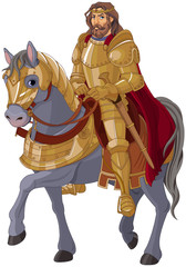 Poster Fairytale World Medieval King Horseback