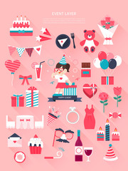 Event Flat Illustrations Collection