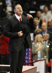 Country music star Trace Adkins sings National Anthem at 2008 Republican National Convention in St. Paul