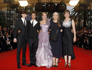 "Director Jane Campion arrives with cast members for the screening of her film ""Bright Star"" at the 62nd Cannes Film Festival"