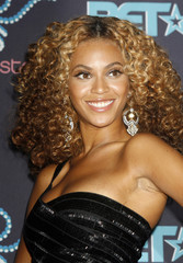 Singer Beyonce poses in the photo room at the 2006 BET Awards at the Shrine Auditorium in Los Angeles