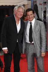 """Laurent Boyer and Laurent Gerra arrive for the screening of the film """" City Island """" at the 35th Deauville American film festival"""