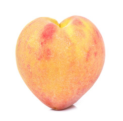 Peach isolated on the white background
