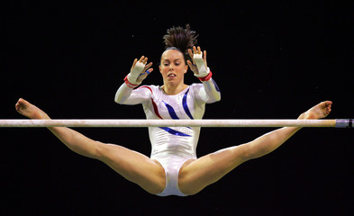 Tweddle of Britain competes in Uneven Bars final during World Gymnastic Championships in Melbourne