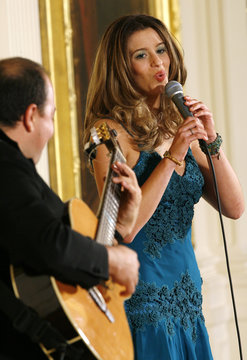 Singer Ana Christina performs at the White House
