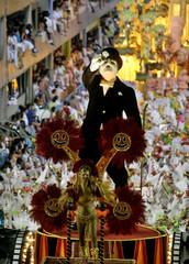 Viradouro samba school performs on second night of premier Carnival parade in Rio.