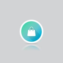 Modern Round Shopping Bag Icon