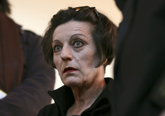 Romanian-born German writer and Nobel Literature Prize winner Mueller looks on during German Book Prize 2009 awards ceremony