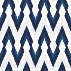 Ikat Seamless Pattern Design for Fabric