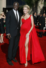 Actress and model Heidi Klum arrives with her husband Seal at the 58th annual Primetime Emmy Awards in Los Angeles
