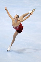 Carolina Kostner of Italy performs during the Ladies Short Program in the Bompard Trophy event at Bercy in Paris