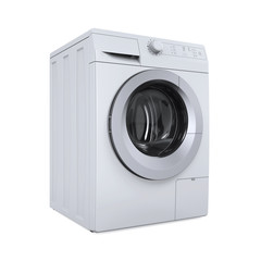 Modern Washing Machine Isolated