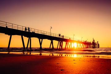 Glenelg beach jetty at sunset