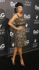 Actress Sanaa Lathan at the opening of the Dolce & Gabbana flagship boutique in Los Angeles