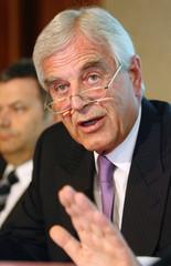Nationalbank-Presskonferenz mit Klaus Liebscher in Wien
