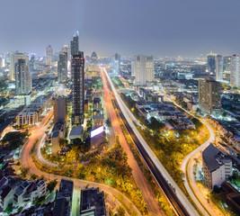 Bangkok city trident road,Bangkok Thailand cityscape