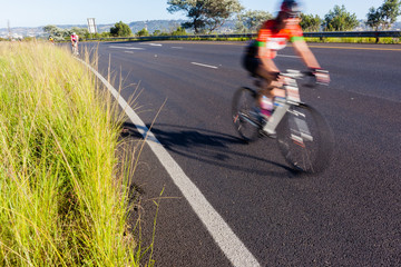 Cycling Road Speed Blur