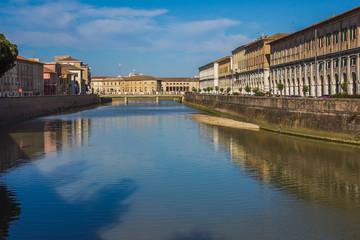 Fiume Misa nel centro storico di Senigallia, Marche