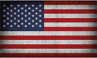 Mosaic flag of USA