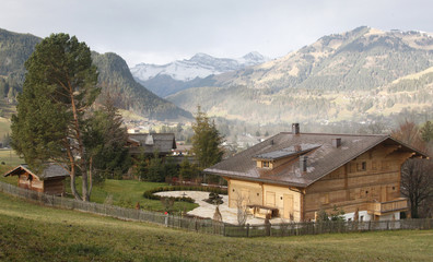 A general view of the 'Milky Way' chalet, which according to Swiss newspapers, is the residence of Oscar-winning film director Roman Polanski, in Gstaad