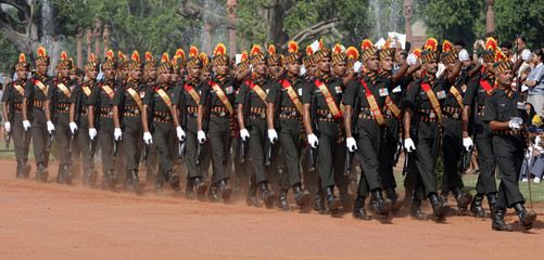 The PBG march during the ceremonial ceremony in New Delhi