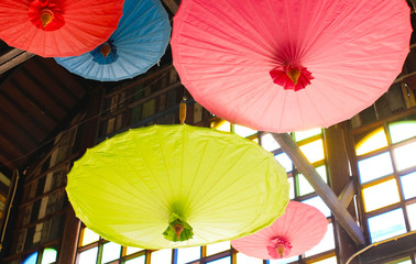 Umbrella Chinese style in Thailand,Paper umbrella.