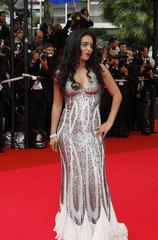 """Actress Hafsia Herzi arrives for the screening of """"Un Conte de Noel"""" by French director Arnaud Desplechin at the 61st Cannes Film Festival"""