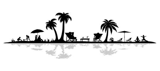 Obraz Silhouette Strand - fototapety do salonu