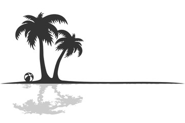 Silhouette Palmen am Strand