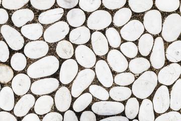 White stone pebbles texture