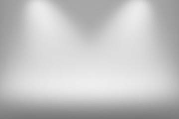 Product Showscase Spotlight on Foggy Background - Soft and Fuzzy Infinite White Floor - Light Scene for Modern Clean Minimalist Design, Widescreen in High Resolution