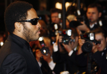"""Cast member Kravitz poses on the red carpet as he arrives for the screening of the film """"Precious"""" at the 62nd Cannes Film Festival"""