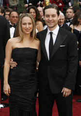 Actors Jennifer Meyer and Tobey Maguire arrive at the 79th Annual Academy Awards in Hollywood