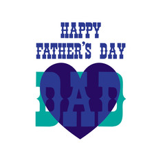 fathers day blue heart