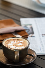 Coffee with newspaper