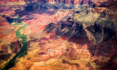 sunny light and blue sky at Grand Canyon  National Park , Arizona, USA