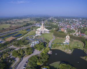 aerial view of wat laung pho tao korat nakornratchasima north eastern thailand most popular religion destination