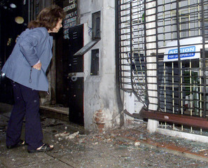 BOMB DAMAGE AT POLITICAL OFFICE OF NEW ARGENTINE ECONOMY MINISTER CAVALLO.