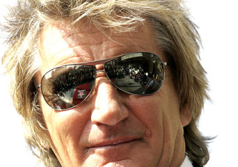 British rocker Rod Stewart looks at the star he is going to receive on the Hollywood Walk of Fame in Hollywood