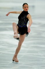 ANE SOPHIE CALVEZ PERFORMS DURING WOMEN'S QUALIFICATIONS FREE SKATINGPROGRAM AT EUROPEAN FIGURE ...