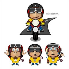 Monkey Motorcycle Vintage Set