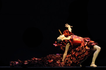 Rojo of the Royal Ballet performs in a production of 'Carmen' at the Royal Opera House in London