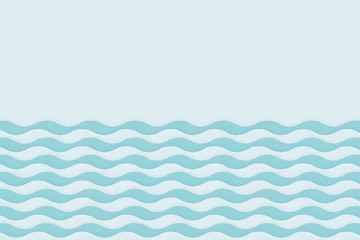 wave on the sea illustrator background with copy space