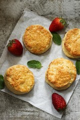 Homemade Biscuits with nice golden brown crust